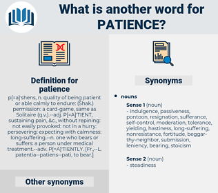 patience, synonym patience, another word for patience, words like patience, thesaurus patience