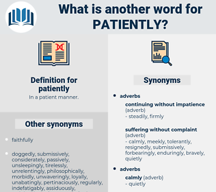 patiently, synonym patiently, another word for patiently, words like patiently, thesaurus patiently