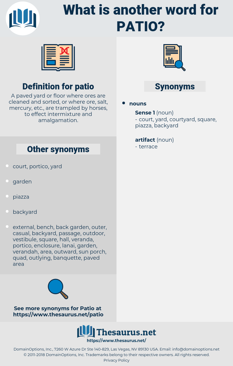 patio, synonym patio, another word for patio, words like patio, thesaurus patio
