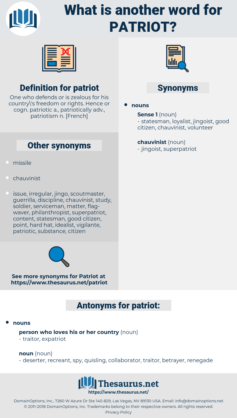 patriot, synonym patriot, another word for patriot, words like patriot, thesaurus patriot