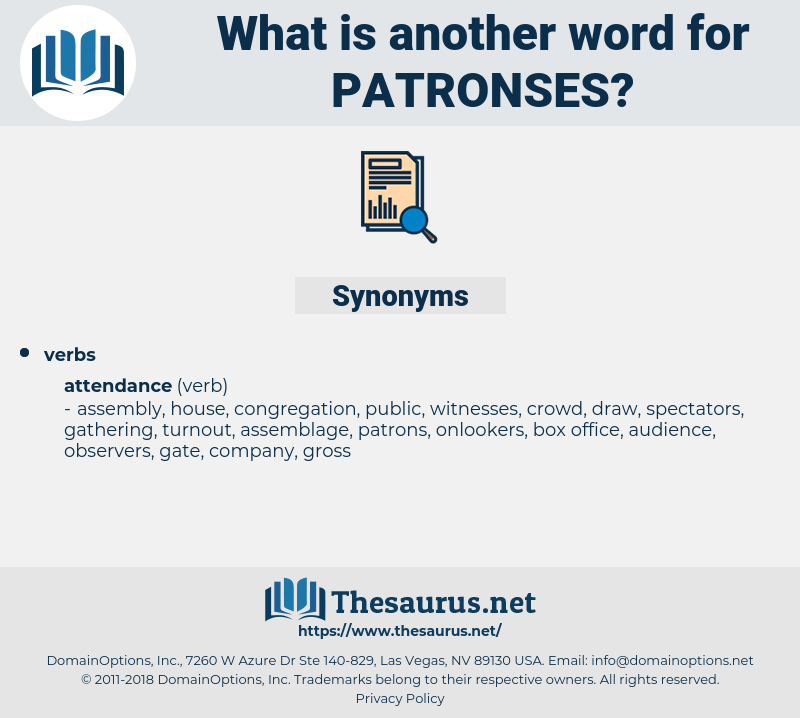 patronses, synonym patronses, another word for patronses, words like patronses, thesaurus patronses