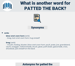 patted the back, synonym patted the back, another word for patted the back, words like patted the back, thesaurus patted the back