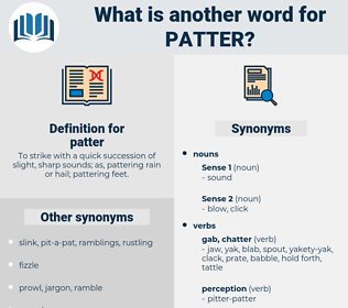 patter, synonym patter, another word for patter, words like patter, thesaurus patter