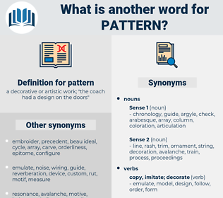 pattern, synonym pattern, another word for pattern, words like pattern, thesaurus pattern
