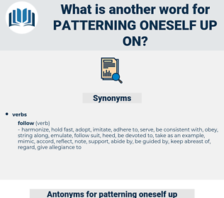 patterning oneself up on, synonym patterning oneself up on, another word for patterning oneself up on, words like patterning oneself up on, thesaurus patterning oneself up on