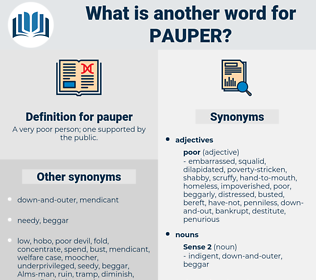 pauper, synonym pauper, another word for pauper, words like pauper, thesaurus pauper