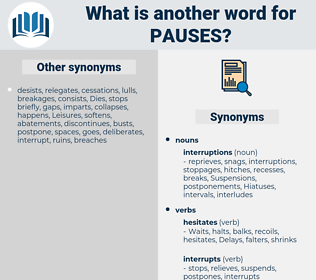 pauses, synonym pauses, another word for pauses, words like pauses, thesaurus pauses