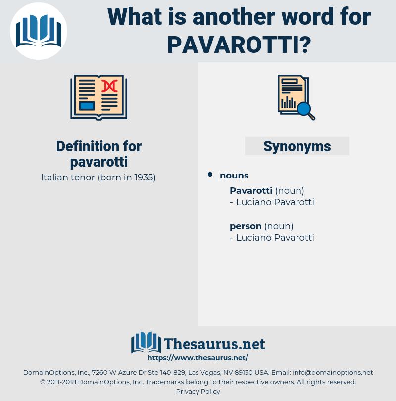 pavarotti, synonym pavarotti, another word for pavarotti, words like pavarotti, thesaurus pavarotti