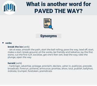 paved the way, synonym paved the way, another word for paved the way, words like paved the way, thesaurus paved the way