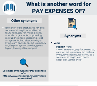 pay expenses of, synonym pay expenses of, another word for pay expenses of, words like pay expenses of, thesaurus pay expenses of