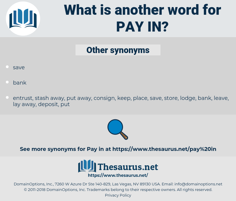 pay in, synonym pay in, another word for pay in, words like pay in, thesaurus pay in