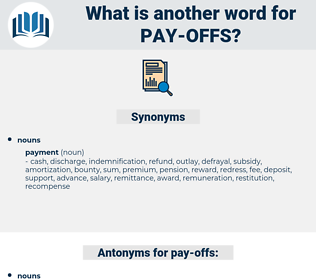 pay-offs, synonym pay-offs, another word for pay-offs, words like pay-offs, thesaurus pay-offs