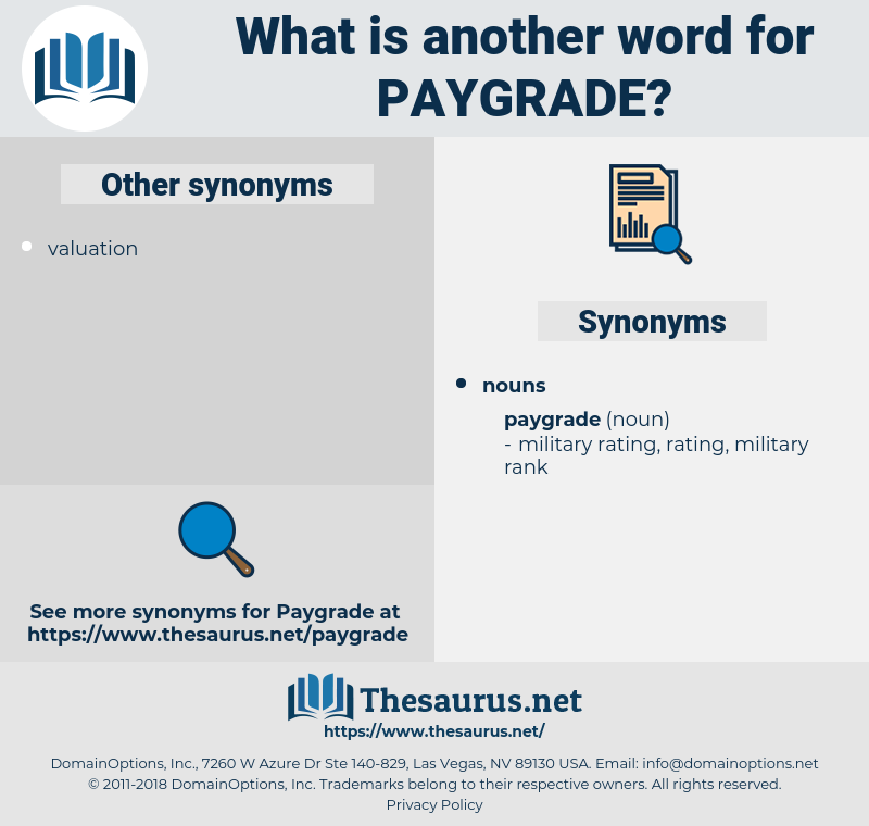 paygrade, synonym paygrade, another word for paygrade, words like paygrade, thesaurus paygrade