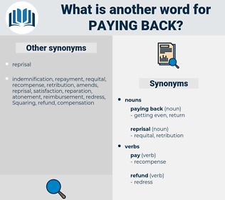 paying back, synonym paying back, another word for paying back, words like paying back, thesaurus paying back