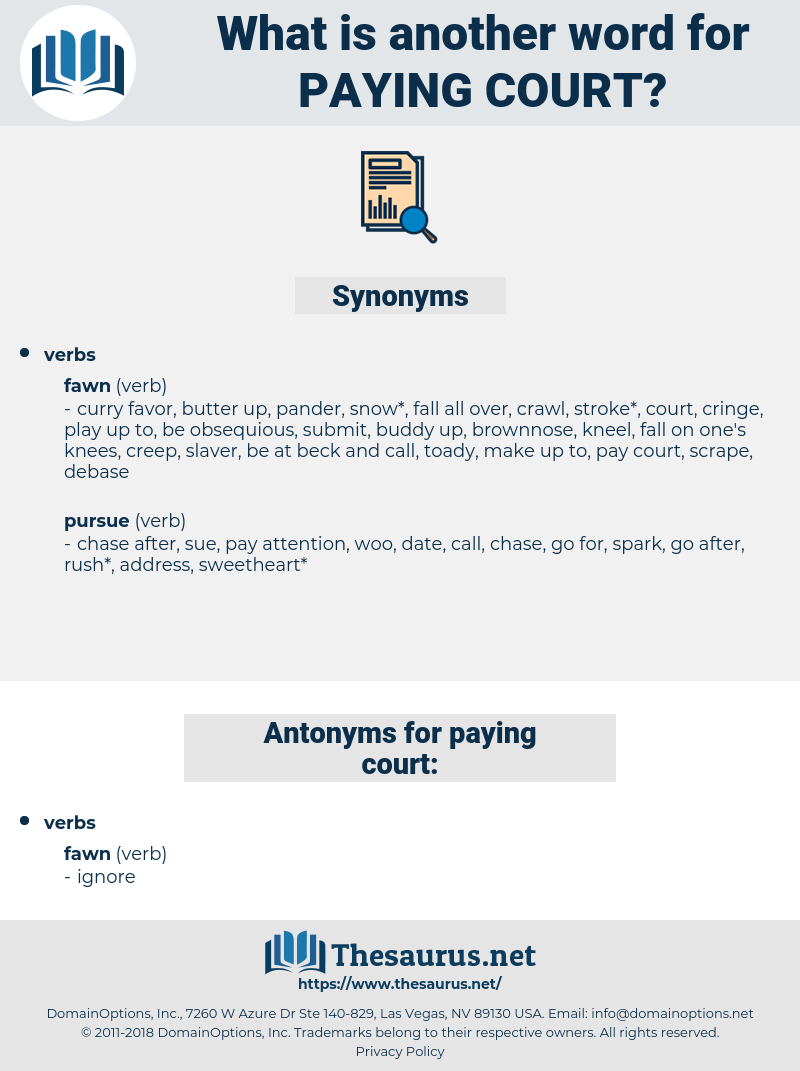 paying court, synonym paying court, another word for paying court, words like paying court, thesaurus paying court