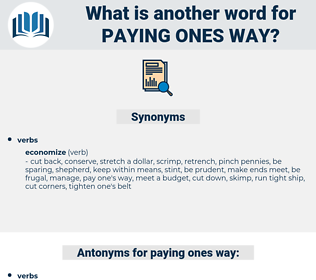paying ones way, synonym paying ones way, another word for paying ones way, words like paying ones way, thesaurus paying ones way