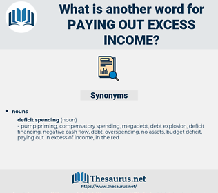 paying out excess income, synonym paying out excess income, another word for paying out excess income, words like paying out excess income, thesaurus paying out excess income