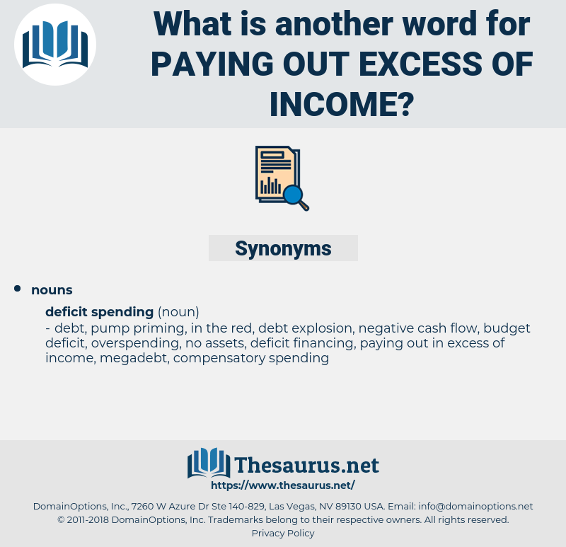 paying out excess of income, synonym paying out excess of income, another word for paying out excess of income, words like paying out excess of income, thesaurus paying out excess of income