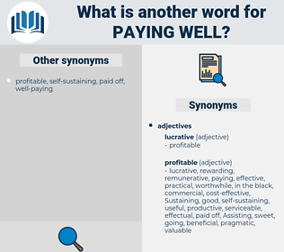paying well, synonym paying well, another word for paying well, words like paying well, thesaurus paying well