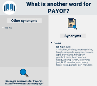 payof, synonym payof, another word for payof, words like payof, thesaurus payof