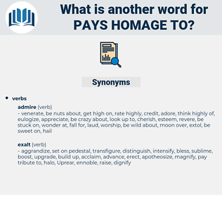 pays homage to, synonym pays homage to, another word for pays homage to, words like pays homage to, thesaurus pays homage to