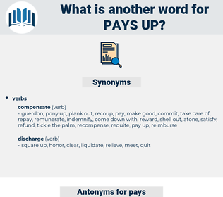 pays up, synonym pays up, another word for pays up, words like pays up, thesaurus pays up