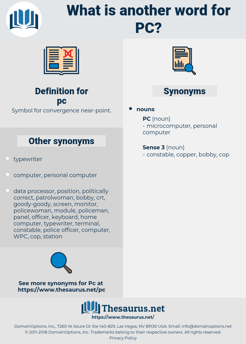 pc, synonym pc, another word for pc, words like pc, thesaurus pc