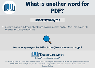 PDF, synonym PDF, another word for PDF, words like PDF, thesaurus PDF