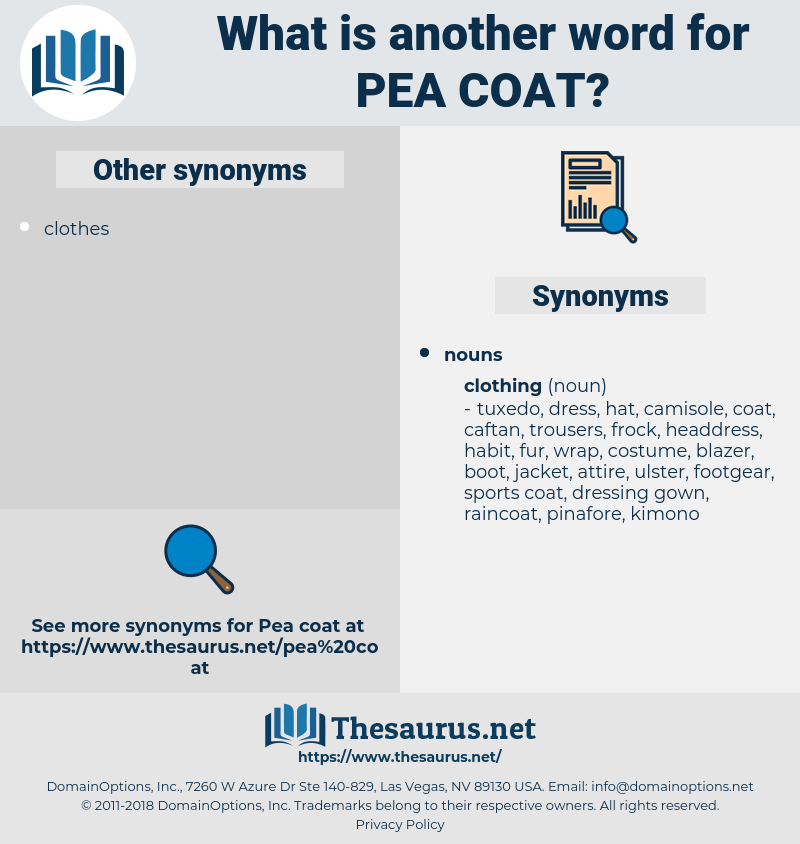 pea coat, synonym pea coat, another word for pea coat, words like pea coat, thesaurus pea coat
