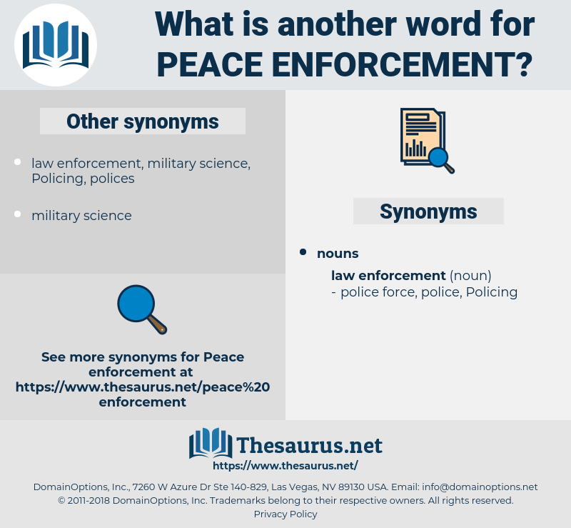 peace enforcement, synonym peace enforcement, another word for peace enforcement, words like peace enforcement, thesaurus peace enforcement