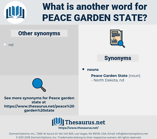 peace garden state, synonym peace garden state, another word for peace garden state, words like peace garden state, thesaurus peace garden state