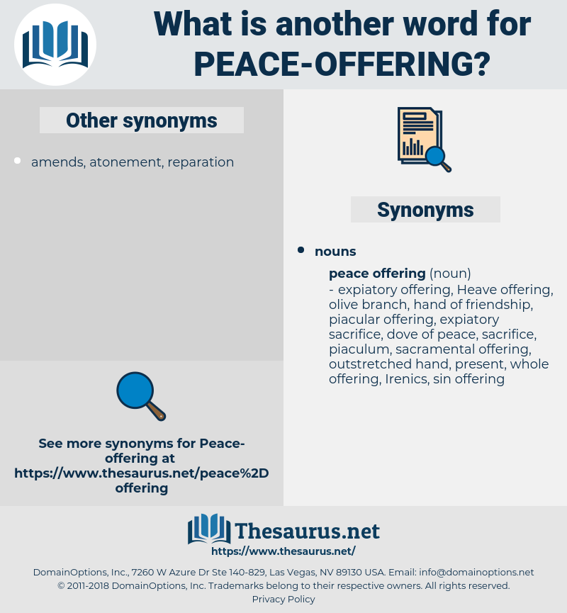 peace offering, synonym peace offering, another word for peace offering, words like peace offering, thesaurus peace offering