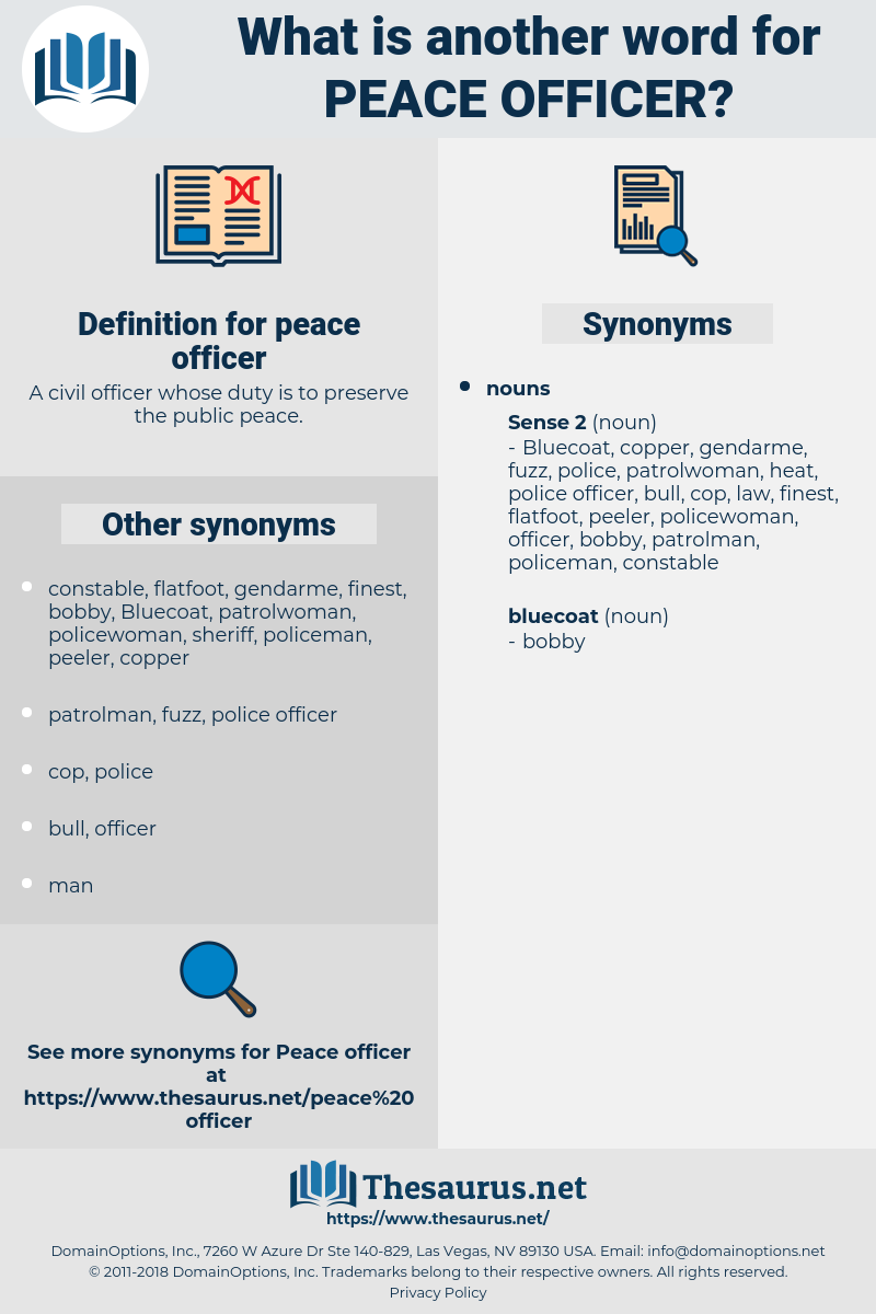 peace officer, synonym peace officer, another word for peace officer, words like peace officer, thesaurus peace officer