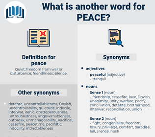 peace, synonym peace, another word for peace, words like peace, thesaurus peace