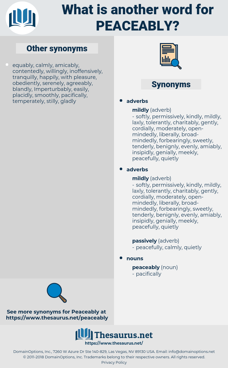 peaceably, synonym peaceably, another word for peaceably, words like peaceably, thesaurus peaceably