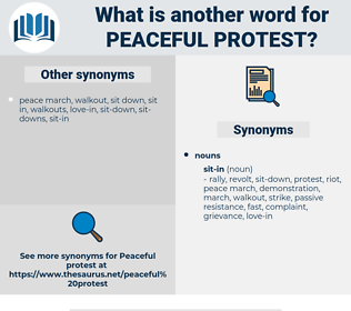 peaceful protest, synonym peaceful protest, another word for peaceful protest, words like peaceful protest, thesaurus peaceful protest