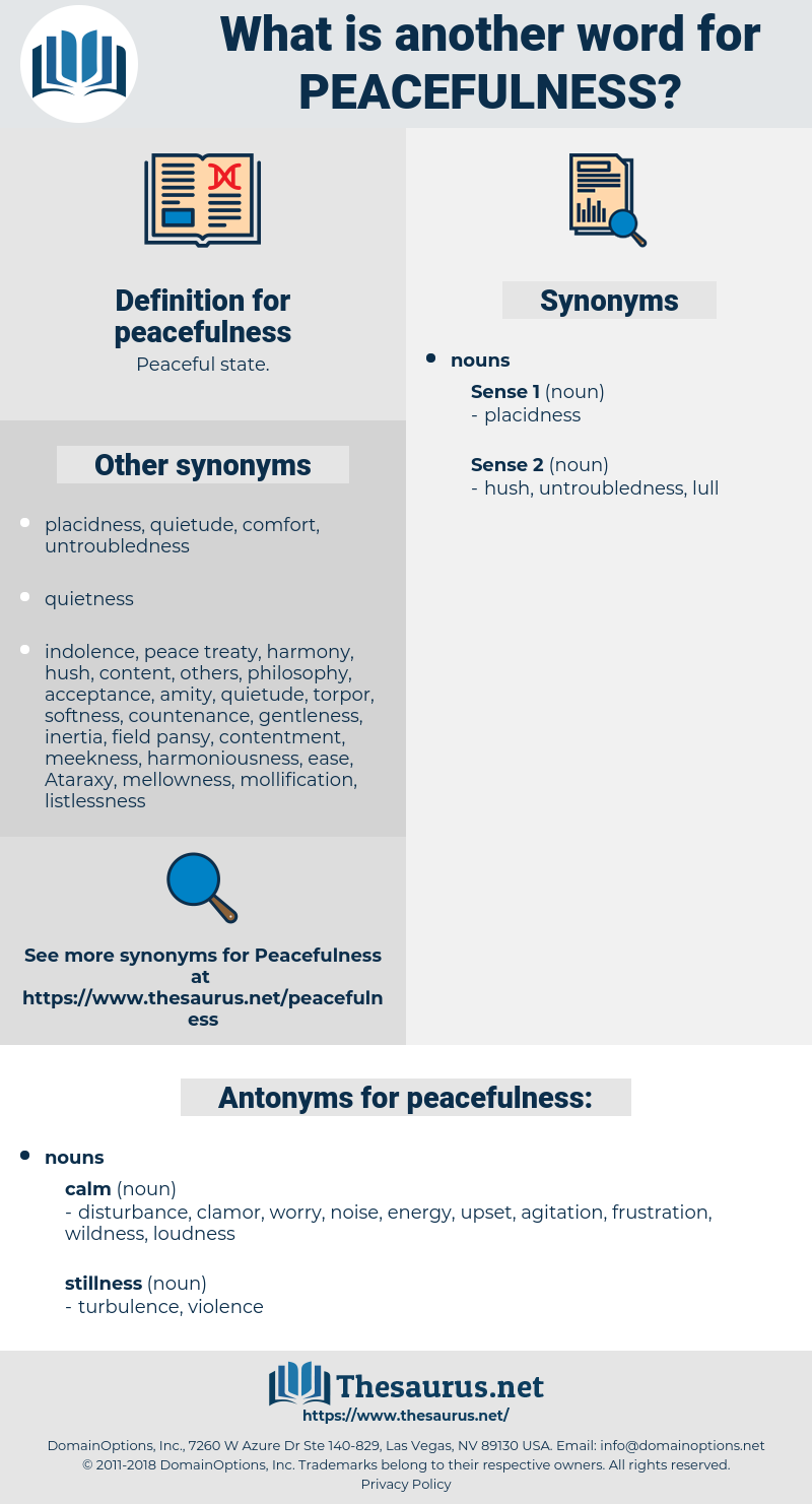 peacefulness, synonym peacefulness, another word for peacefulness, words like peacefulness, thesaurus peacefulness