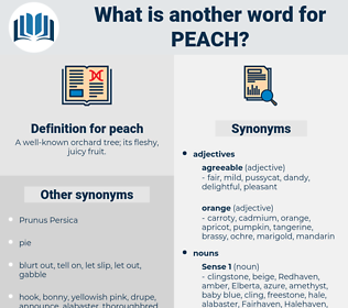peach, synonym peach, another word for peach, words like peach, thesaurus peach