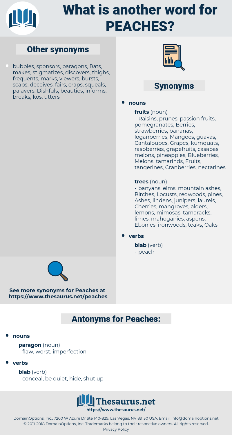 Peaches, synonym Peaches, another word for Peaches, words like Peaches, thesaurus Peaches