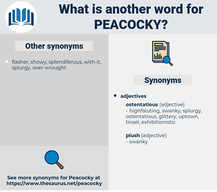 peacocky, synonym peacocky, another word for peacocky, words like peacocky, thesaurus peacocky