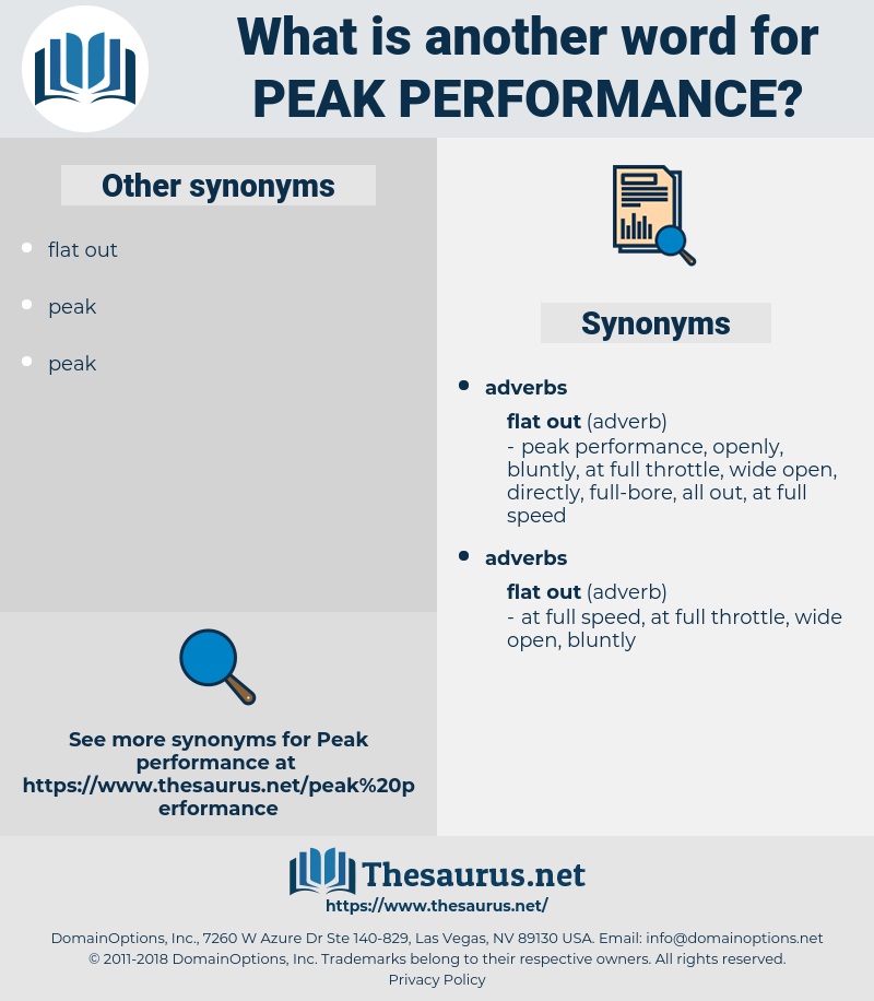 peak performance, synonym peak performance, another word for peak performance, words like peak performance, thesaurus peak performance