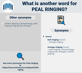 peal ringing, synonym peal ringing, another word for peal ringing, words like peal ringing, thesaurus peal ringing