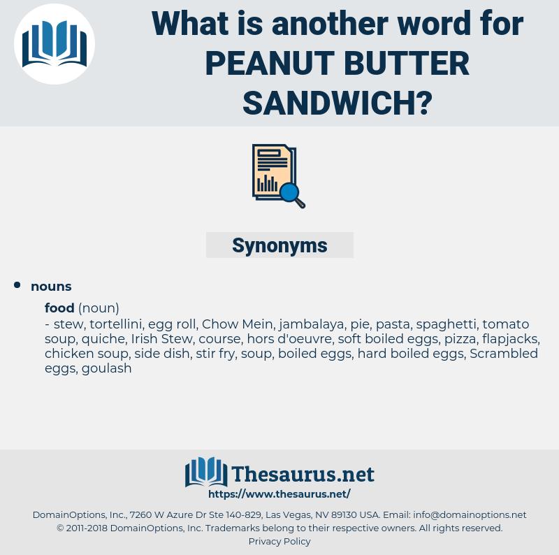 peanut butter sandwich, synonym peanut butter sandwich, another word for peanut butter sandwich, words like peanut butter sandwich, thesaurus peanut butter sandwich