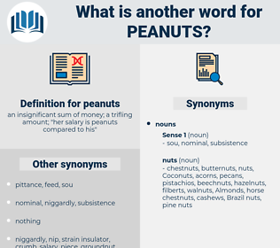 peanuts, synonym peanuts, another word for peanuts, words like peanuts, thesaurus peanuts