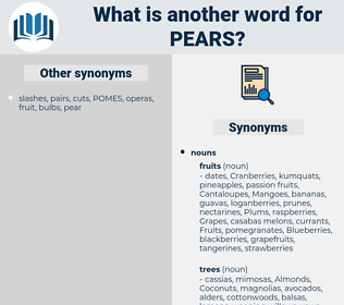 Pears, synonym Pears, another word for Pears, words like Pears, thesaurus Pears