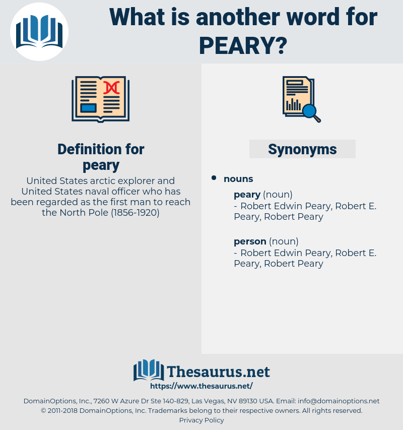 peary, synonym peary, another word for peary, words like peary, thesaurus peary