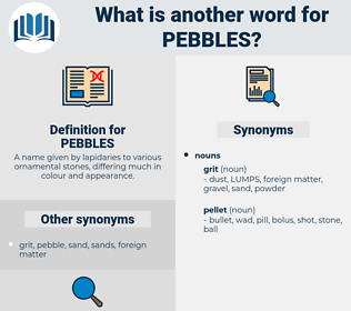 PEBBLES, synonym PEBBLES, another word for PEBBLES, words like PEBBLES, thesaurus PEBBLES