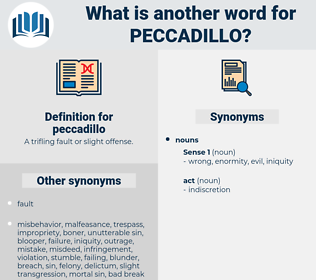 peccadillo, synonym peccadillo, another word for peccadillo, words like peccadillo, thesaurus peccadillo