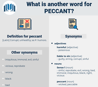 peccant, synonym peccant, another word for peccant, words like peccant, thesaurus peccant