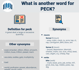 peck, synonym peck, another word for peck, words like peck, thesaurus peck